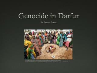 Genocide  i n Darfur