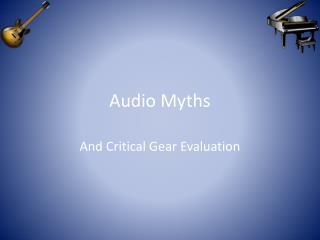 Audio Myths