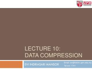 Lecture 10: data compression