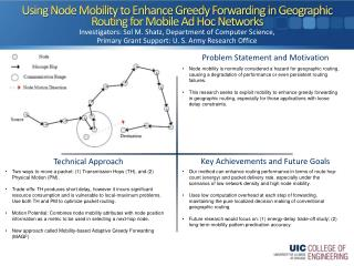 Using Node Mobility to Enhance Greedy Forwarding in Geographic Routing for Mobile Ad Hoc Networks