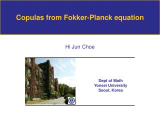 Copulas from Fokker-Planck equation