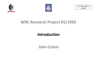 WRC Research Project K5/1965 Introduction John Colvin