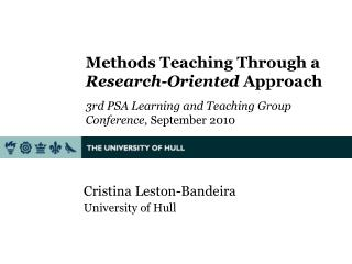 Cristina  Leston-Bandeira University of Hull