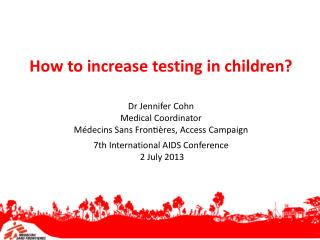 How to increase testing in children?