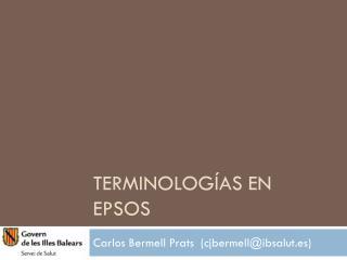 Terminologías en epSOS