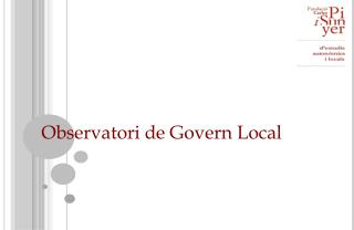 Observatori de Govern Local