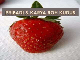 PRIBADI & KARYA ROH KUDUS