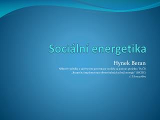 Sociální energetika