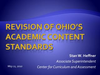 Revision of Ohio�s Academic Content Standards