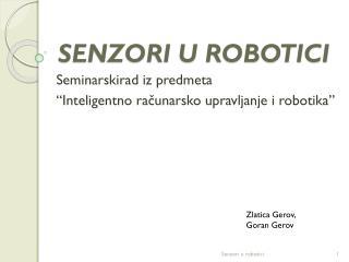SENZORI U ROBOTICI