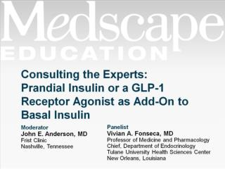 Consulting the Experts:  Prandial Insulin or a GLP-1 Receptor Agonist as Add-On to Basal Insulin