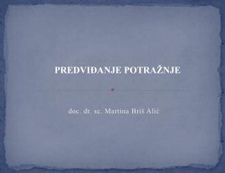 doc. dr. sc. Martina Briš Alić