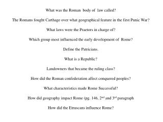 What was  the Roman   body of  law called?