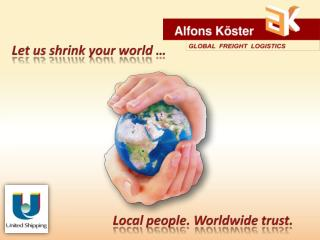 Let  us shrink your world  …
