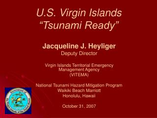 U.S. Virgin Islands   Tsunami Ready