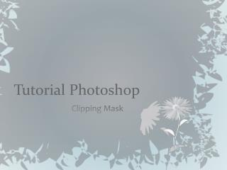 Tutorial Photoshop