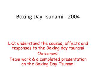 Boxing Day  Tsunami - 2004