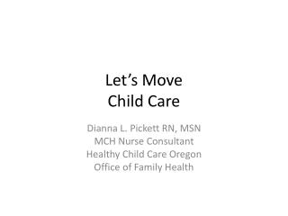 Let's Move   Child Care