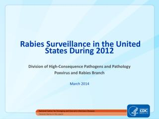 Rabies Surveillance in the United States During  2012
