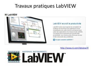 Travaux pratiques  LabVIEW