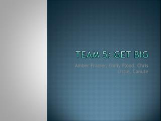 Team 5: Get big