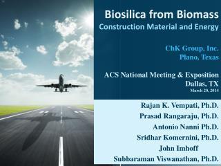 Rajan K. Vempati, Ph.D. Prasad Rangaraju, Ph.D. Antonio Nanni Ph.D. Sridhar Komernini, Ph.D.