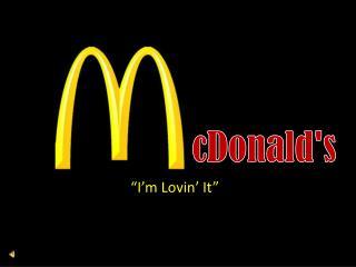 c Donald's