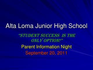 Alta Loma Junior High School