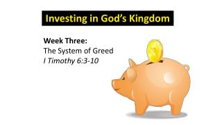Investing in God's Kingdom