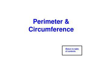 Perimeter & Circumference