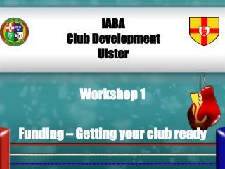 Workshop 1 IABA  Club Development Ulster