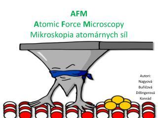 AFM A tomic  F orce  M icroscopy Mikroskopia atomárnych síl