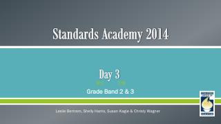 Standards Academy 2014