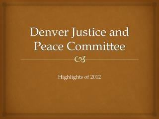 Denver Justice and Peace Committee