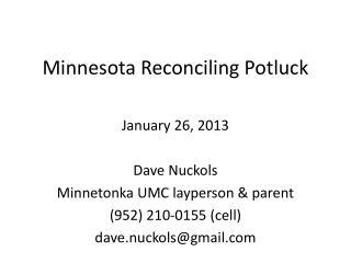 Minnesota  Reconciling Potluck