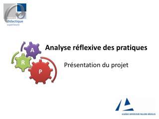 Analyse réflexive des pratiques Présentation du projet