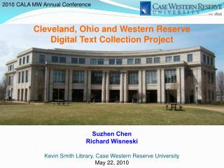 Cleveland, Ohio and Western Reserve  Digital Text Collection Project