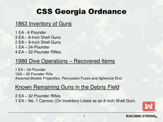 CSS Georgia Ordnance