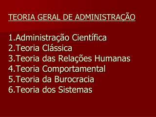 TEORIA GERAL DE ADMINISTRA  O