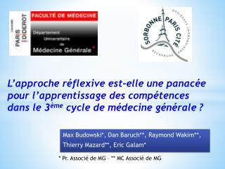 Max Budowski*, Dan Baruch**, Raymond Wakim**, Thierry  Mazard **, Eric Galam*