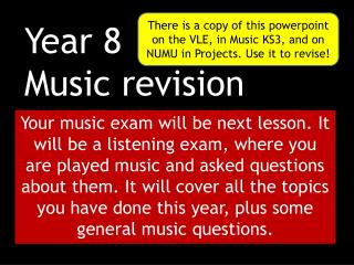 Year 8 Music revision