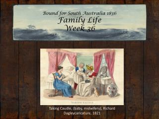 Bound for South Australia 1836 Family Life Week 36