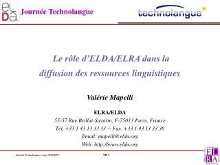 Journ e Technolangue