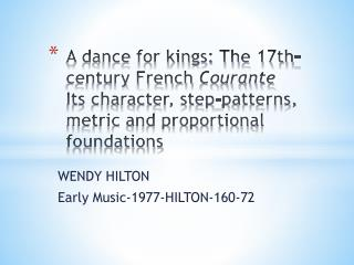 WENDY HILTON Early  Music-1977-HILTON-160-72