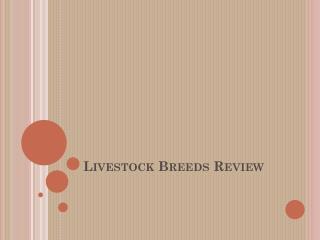 Livestock Breeds Review