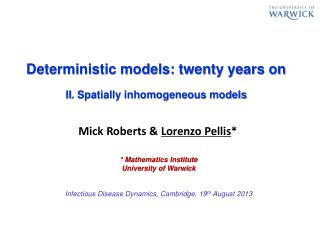 Deterministic models: twenty years on