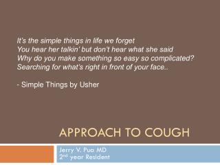 Approach to Cough