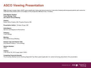 ASCO Viewing Presentation