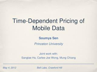 Time-Dependent Pricing of Mobile Data
