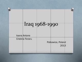 Iraq 1968-1990